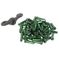Gsport BMX Nipples - Taper Hex - Nipple & Tool - 7075 - Green