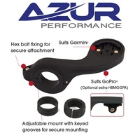 Azur - Out Front Handlebar Bike/Cycling Mount - Black