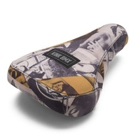 Kink Bike Co - Smut V2 Stealth Thick Sublimated Print BMX Seat - Stealth Pivotal