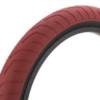 Kink Sever BMX Tyre 20 x 2.40 - Red / Black Wall BMX Tire