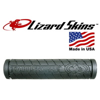Lizard Skins Bike/Cycling Grips -  Single Comp. With Logo - Black