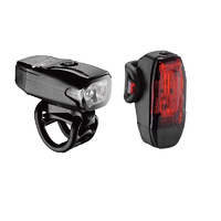Lezyne KTV Drive 200 Lumens Front 10 Lumens Rear USB LED Light Set Black