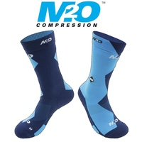 M2O Bike / Cycling Sock - Endurance 5050 Crew Sock - Blue / Cyan