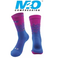 M2O Bike / Cycling Socks - Endurance Rivet Crew Plus Sock - Blue / Pink