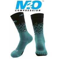 M2O Bike / Cycling Socks - Endurance Rivet Crew Sock - Green / Black