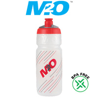 M2O Bike/Cycling Bottle - Pilot Water Bottle - 710ml - Clear/Red