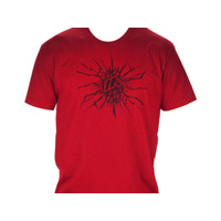 Mirraco BMX T-Shirt - Cracked - Red - Various Sizes
