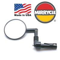 Mirrycle Bike/Cycling Mirror - Handlebar End Mirror - USA Made - 75mm Diameter