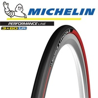 Michelin Lithion 2 - 700 x 23C Foldable - MTB Road-Race Mountain Bike Tyre - Red