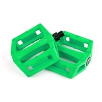 "Mission Impulse 9 /16""  Plastic BMX Pedals - Bike Pedal - Kelly Green / Lime"