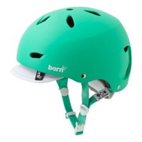 Bern Brighton Womens Bike Helmet w/visor - Matte Green All Season Sports Helmet