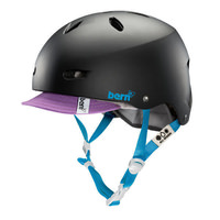 Bern Brighton Womens Bike Helmet w/visor - Matte Black