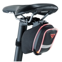 Topeak AeroWedge iGlow Saddle Bag w Glow Strips - Integral Glow Safety Bike Bag