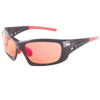 Jet Black Turbulence VX - 3 Lens Glasses Kit. Black/Red w/ Red, Clear, Amber