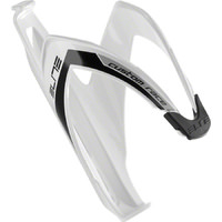 Elite Custom Race Bike Bottle Cage - Cycling Bottle Cage Glossy White with Black