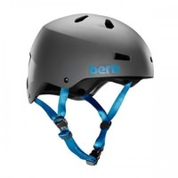 Bern Macon Matte Grey Bike Helmet - Crank Fit - Bern Macon Bike or Skate Helmet