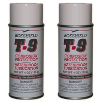2 x 4oz Boeshield T9 Bike Chain Lube T-9 Aerosol Spray Lubricant Waterproof Wax