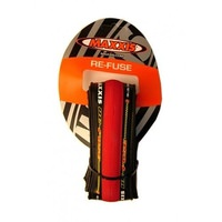 Maxxis Re-Fuse Foldable Tyre 700 X 23c (Refuse) - RED Road Bike Tires