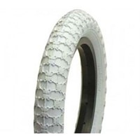 "AirPro Comp 3 16 X 1.75"" Classic BMX Bicycle Tyre - White Bike Tire"