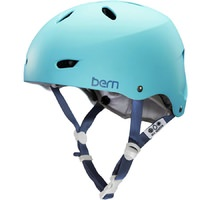 Bern Brighton Womens Bike Helmet Matte Bluebird Blue. No Visor, Crank Fit