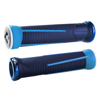 ODI Aaron Gwin AG1 Signature Lock-On Downhill MTB Grips - Blue/White/Silver