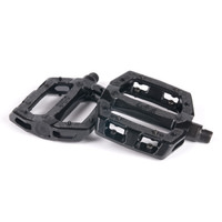 "eClat ""Slash"" Alloy BMX Bike Pedals - 9/16"" - chromoly axle (Black)"