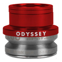 "Odyssey Pro Integrated 1-1/8"" Sealed Integrated Headset - BMX Bike Anodized Red"