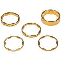 "Promax BMX Headset Spacer Set - 1 1/8"" - Set Of 5 - Gold"