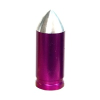 Prime Aero BMX Valve Caps - Bullet - Alloy - SV - NZ02 - Pack Of 10 - Purple