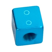 Prime Aero BMX Valve Caps - Dice - Alloy -  SV - Pack Of 10 - Blue