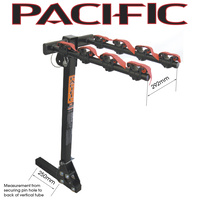 Pacific Bike/Cycling Bike Carrier - 50mm Tilt Square Hitch  - 4 x Bike Carrier