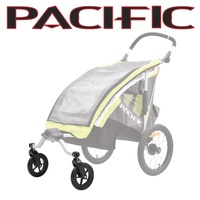Pacific Additional Stroller Wheel Set For Single Trailer - Wheels Only
