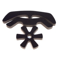 Pryme BMX Helmet Replacement Pad - V2 - 12mm - Black