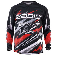 Radio BMX Jersey - Lightning Jersey - Red