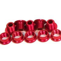 Runlux BMX Chainring Studs - Alloy - Pack 5 - Red