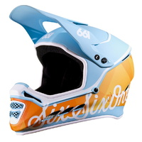 SixSixOne MTB Helmet - Reset MIPS - Full-Face - GEO Blue Orange - Various Sizes