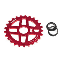 Salt BMX Pro Sprocket 25T Red. Suits 23.8mm, 22mm or 19mm Axle.