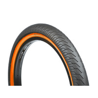 "Salt BMX Pitch Slick Tyre - 20"" x 2.25"" - Black / Orange Wall Bike Tire"