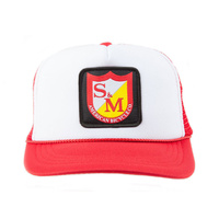 S&M BMX Cap - Patch - Trucker - Youth Size - Red/White/Red