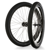 "S&M BMX Wheel Set - Covid Cruiser 26"" - RHD - Black / Black"