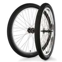 "S&M BMX Wheel Set - Covid Cruiser 26"" - RHD - Silver / Black"