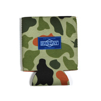 Sunday BMX Drink Holder - Koozie - Camo/Orange