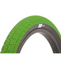 1 x Sunday Current BMX Tyres 20 x 2.25 Green with Black Wall.