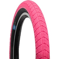 1 x Sunday Current BMX Tyres 20 x 2.25 Pink with Black Wall.