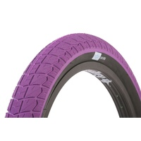 1 x Sunday Current BMX Tyre 20 x 2.40 Purple with Black Wall.
