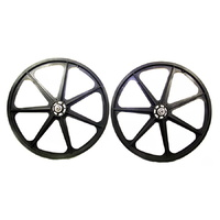 "Skyway BMX Wheels - Tuff Wheels - 24"" - 7 Spoke - Black"