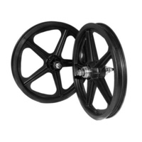 "Skyway BMX Wheelset - Tuff II S/B - 5 Spoke - 16"" x 1.75"" - Black"