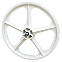 "Skyway BMX Wheel - Tuff II Front Wheel - 5 Spoke - 20"" x 1.75"" - White"