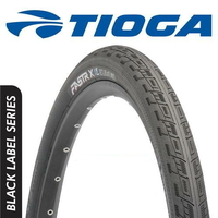 "Tioga BMX Race Tyre - Fastr X - Black Label Series - 20"" x 1.6"" - Black"