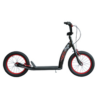 "Scootz BMX Scooter - Scootz Pro - 12"" - Flat Black/Red"